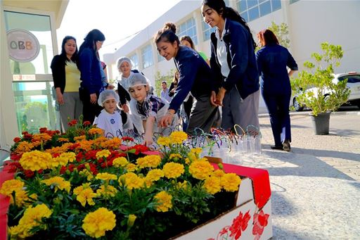 Grade 3 Pizza Making and Flower Planting Event